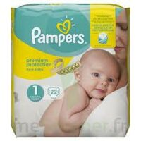PAMPERS NEW BABY PREMIUM PROTECTION, taille 1, 2 kg à 5 kg, sac 22 à SAINT-VALLIER
