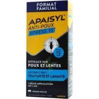 Apaisyl Anti-poux Xpress 15' Lotion antipoux et lente 100ml+peigne à SAINT-VALLIER